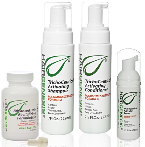 New & Improved HairGenesis - the most advanced non-drug botanical hairloss treatment products for Men and Women